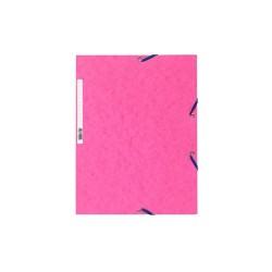 Gumis mappa karton Exacompta prespán A/4 rózsaszín