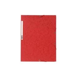 Gumis mappa karton Exacompta prespán A/4 piros
