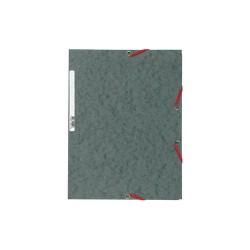 Gumis mappa karton Exacompta prespán A/4 szürke