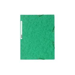 Gumis mappa karton Exacompta prespán A/4 zöld
