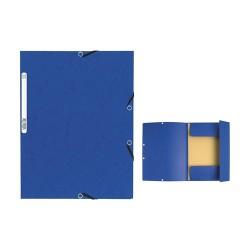 Gumis mappa karton Exacompta A/4 355g kék
