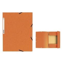 Gumis mappa karton Exacompta A/4 355g narancssárga
