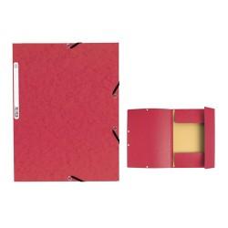 Gumis mappa karton Exacompta A/4 355g piros