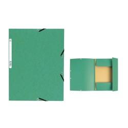 Gumis mappa karton Exacompta A/4 355g zöld