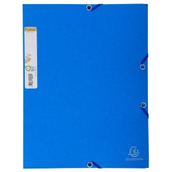 Gumis mappa karton Exacompta Forever A/4 kék
