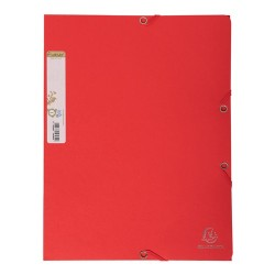 Gumis mappa karton Exacompta Forever A/4 piros