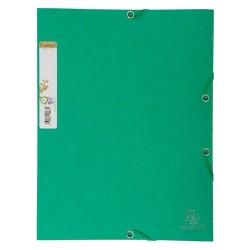 Gumis mappa karton Exacompta Forever A/4 zöld