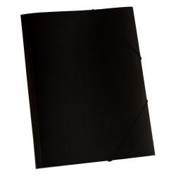 Gumis mappa karton pd A/4 fekete