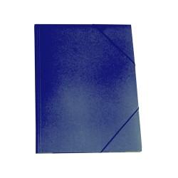 Gumis mappa karton A/4 kék