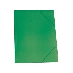 Gumis mappa karton A/4 zöld