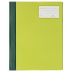 Gyorsfűző PVC Durable A/4 azonos előlappal extra széles zöld