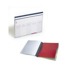 Gyorsfűző PVC Durable Divisoflex A/4 regiszteres kék