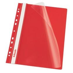 Gyorslefűző PP Esselte A/4 lefűzhető piros 13585