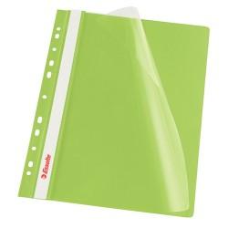 Gyorslefűző PP Esselte A/4 lefűzhető zöld 13587