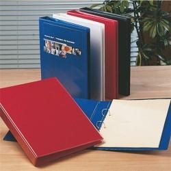 Panorámás gyűrűs könyv Esselte A/4 4 gyűrűs 65 mm gerinccel kék 49762