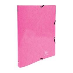 Gyűrűs könyv Exacompta Iderama A/4 2 gyűrűs 20 mm gerinccel rózsaszín