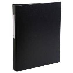 Gyűrűs könyv Exacompta A/4 2 gyűrűs 40 mm gerinccel PP fekete
