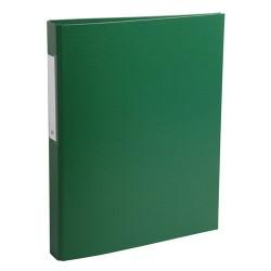 Gyűrűs könyv Exacompta A/4 2 gyűrűs 40 mm gerinccel PP zöld