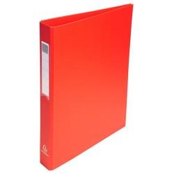 Gyűrűs könyv Exacompta A/4 4 gyűrűs 40 mm gerinccel PP piros
