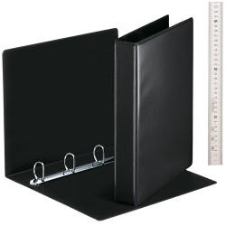 Panorámás gyűrűs könyv Esselte A/4 4 gyűrűs 50 mm gerinccel fekete 49717