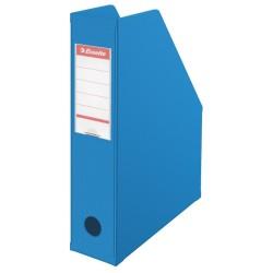 Iratpapucs karton összehajtható Esselte A/4 8 cm gerinccel kék 56005