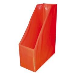 Iratpapucs PVC A/4 10 cm gerinccel piros