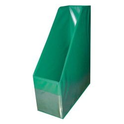 Iratpapucs PVC A/4 10 cm gerinccel zöld