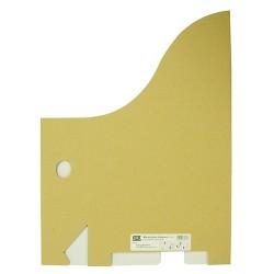 Iratpapucs karton összehajtható pd A/4 8 cm gerinccel karton natúr