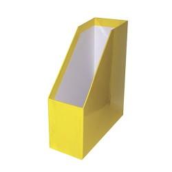 Iratpapucs karton merev falú pd A/4 9 cm gerinccel fóliás citromsárga