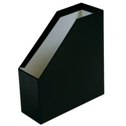 Iratpapucs karton merev falú pd A/4 9 cm gerinccel fóliás fekete