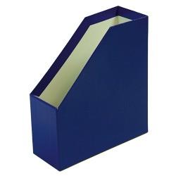 Iratpapucs karton merev falú pd A/4 9 cm gerinccel fóliás kék