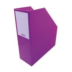 Iratpapucs karton merev falú pd A/4 9 cm gerinccel fóliás lila