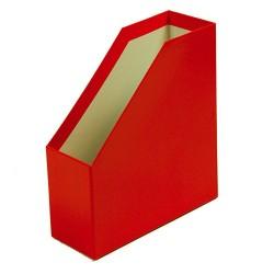 Iratpapucs karton merev falú pd A/4 9 cm gerinccel fóliás piros