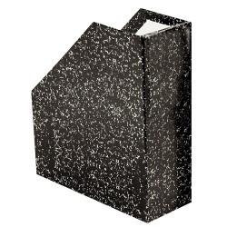 Iratpapucs karton merev falú pd A/4 9 cm gerinccel fröcskölt fekete