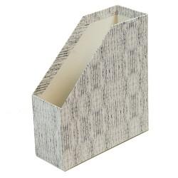 Iratpapucs karton merev falú pd A/4 9 cm gerinccel textil szürke