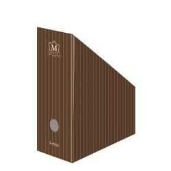 Iratpapucs karton összehajtható Herlitz Montana A/4 11 cm gerinccel piros/barna csíkos