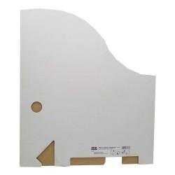 Iratpapucs karton összehajtható A/4 8 cm gerinccel fehér