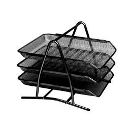 Irattálca fémhálós Fornax A/4 3 részes fekete