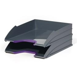 Irattálca műanyag Durable Varicolor A/4 2 db-os szett szürke-lila