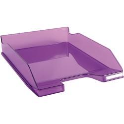 Irattálca műanyag Exacompta Combo Midi A/4+ fényes áttetsző lila