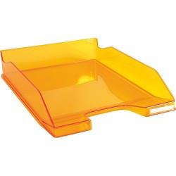 Irattálca műanyag Exacompta Combo Midi A/4+ fényes áttetsző mandarin