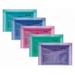 Irattartó tasak Snopake A/5 patentos élénk színek