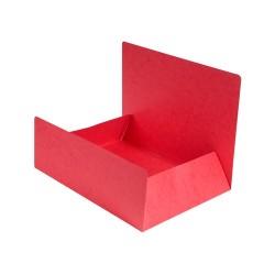 Pólyás iratgyűjtő Exacompta A/4 prespán 400g piros