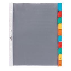 Elválasztólap PP Durable A/4 10 részes színes lefűzhető