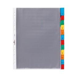 Elválasztólap PP Durable A/4 12 részes színes