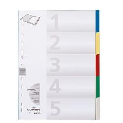 Elválasztólap PP Durable A/4 5 részes színes