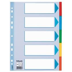 Elválasztólap karton Esselte Standard A/4 5 részes színes 100191