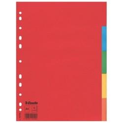 Elválasztólap karton Esselte Economy A/4 5 részes színes 100199