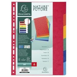 Elválasztólap karton Exacompta A/4 6 részes színes 225 g