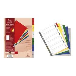 Regiszter PP Exacompta A/4 6 részes színes